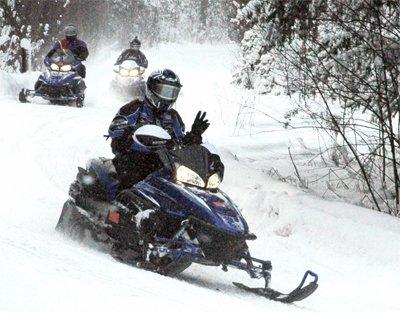 snowmobiling munising